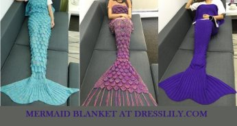 Mermaid blanket that will brighten cold days and great Valentines Day Gift