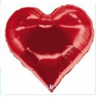 Valentines Day heart shaped red balloon