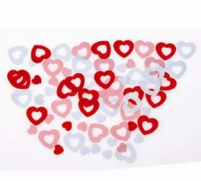 heart shaped confetti scatters
