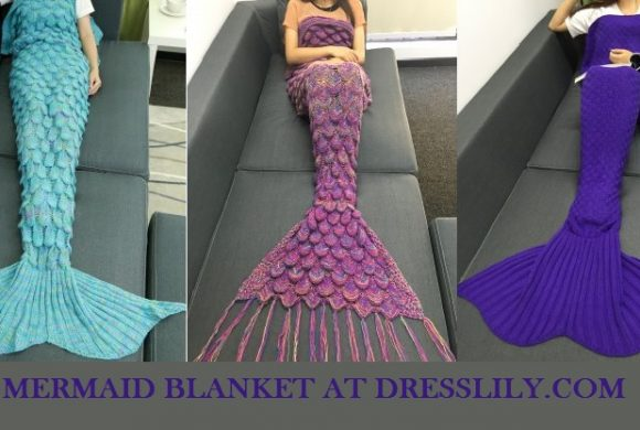 Mermaid blanket that will brighten cold days and great Valentine's Day Gift